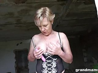 Lingerie, Granny, Grandmother, Masturbation, Solo, Maledom, Mommy
