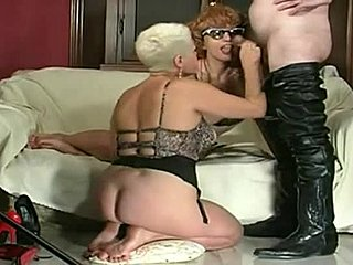 Lingerie, Grandmother, Bdsm, Group, Old, Legs, Blonde