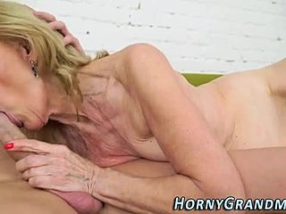 Grandmother, Sucking, Granny, Cumshot, Mature, Blonde, Facial