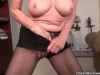 Granny, Masturbation, Toys, Mature, Nylon, Neighbors, Usa