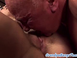 Amateurs, Grandfather, Bent over, European, Young, Old and young, Old man