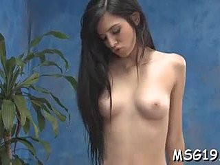 Massage, Sex, Couple, Oiled, Sloppy, Babe, Teen