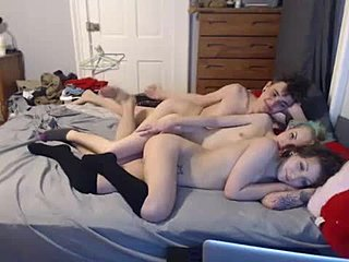 Teen, Young, Tattoo, 3 some, Russian, Group, Oral