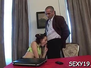 Doggystyle, Old, Adorable, Teacher, Drilled, Hardcore, Slut