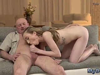 Young, Old and young, Old, Russian, Creampie, Babe, Daddy
