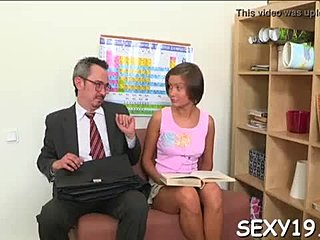 Doggystyle, Sucking, Pussy, Orgasm, Teen, Teacher, Drilled