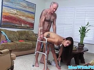 Grandfather, Tattoo, Big tits, Doggystyle, Old, Old man, Teen