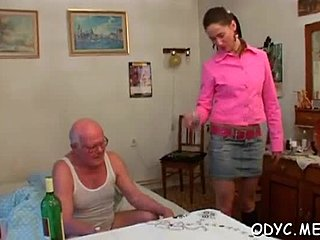 Wet pussy, Grandfather, Old, Pussy, Teen, Dad and girl, Lick