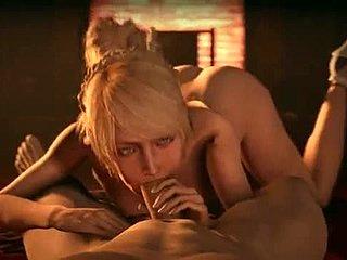 3D GIF πορνό με Χεντάι γυναικείος οργασμός ενώ έγκυος