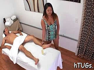 ESTER: Massage client sucking masseuses tight pussy