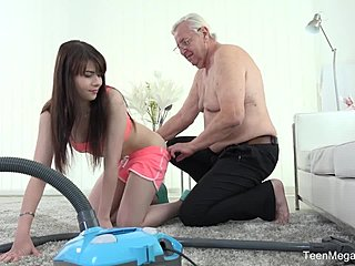 Big tits, Natural tits, Sucking, Old, Old man, Teen, Tits