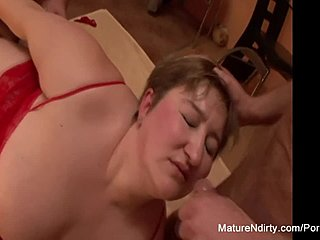 Chubby, Boobs, Grandmother, Assfucking, Big tits, Group, Cumshot