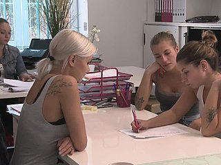 Interview, Group, Share, Creampie, Blonde, 3 some, Reality