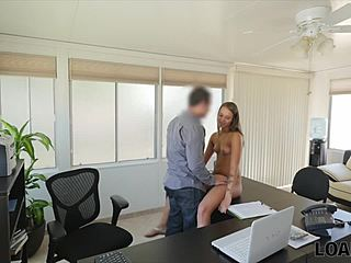 Interview, Student, Tongue, Sucking, Office, Clothes ripped, Pussy